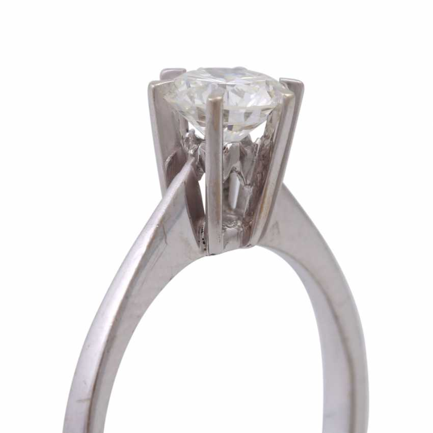 Solitaire ring with brilliant, approximately 0.7 ct, - photo 5