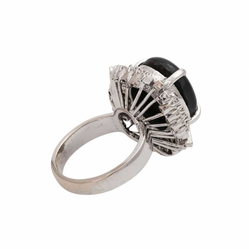 Ring with black star sapphire approx. 10 ct, - photo 3