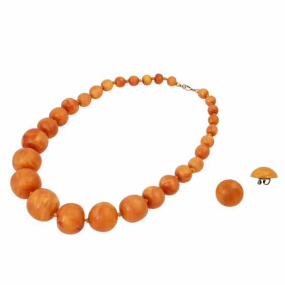 2 piece amber set of jewellery - photo 1