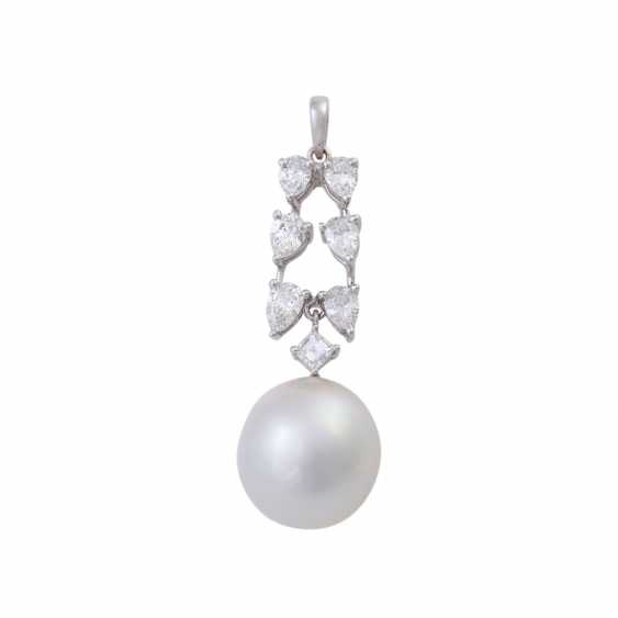 Pendant with white South sea cultured pearl, approx. 12 mm - photo 1