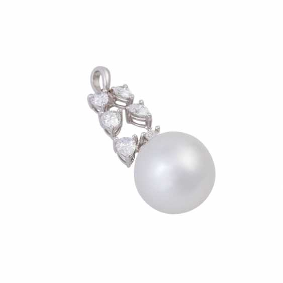 Pendant with white South sea cultured pearl, approx. 12 mm - photo 3