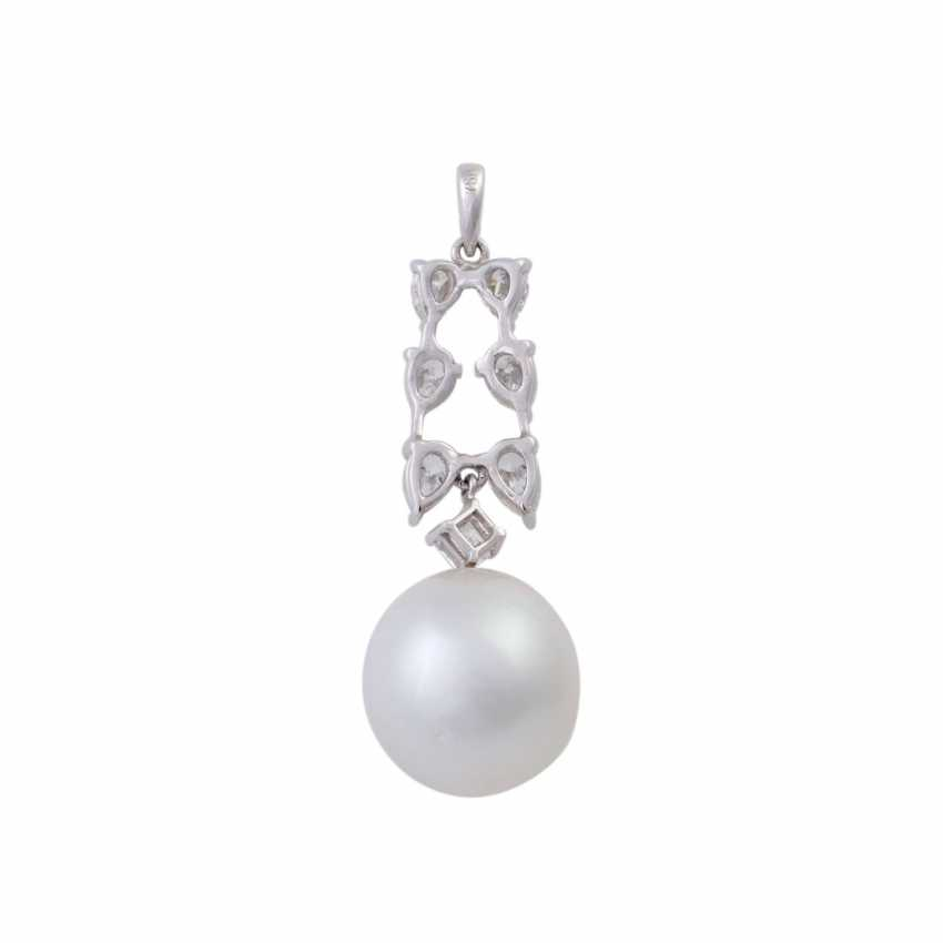 Pendant with white South sea cultured pearl, approx. 12 mm - photo 4