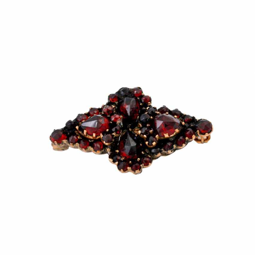 Set of 3 brooches garnet jewelry, - photo 4