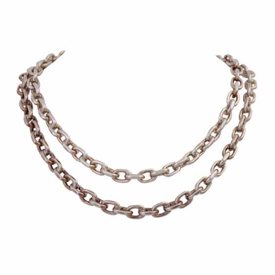 Massive silver chain flat anchor pattern, - photo 1