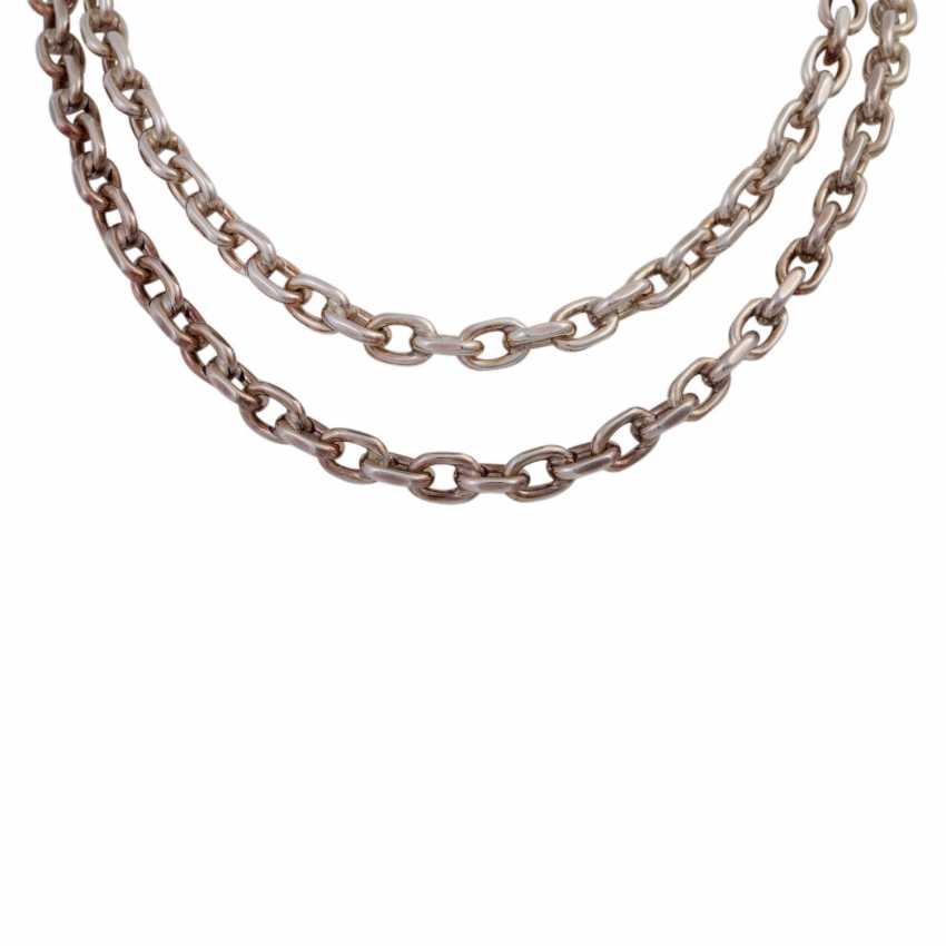 Massive silver chain flat anchor pattern, - photo 2