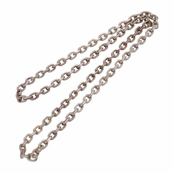 Massive silver chain flat anchor pattern, - photo 3
