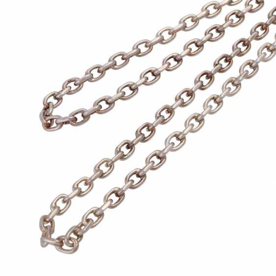 Massive silver chain flat anchor pattern, - photo 4