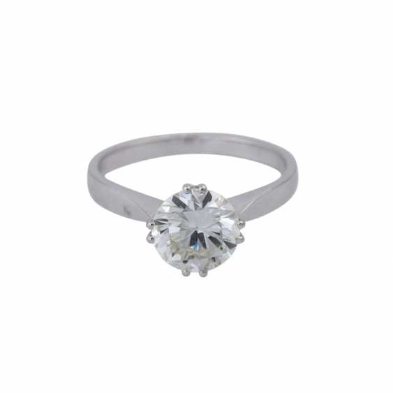 Solitaire ring with brilliant, approximately 1,73 ct (engraved), - photo 1