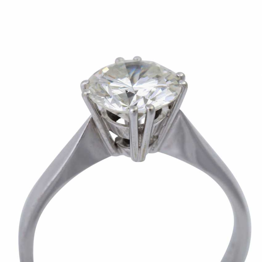 Solitaire ring with brilliant, approximately 1,73 ct (engraved), - photo 5