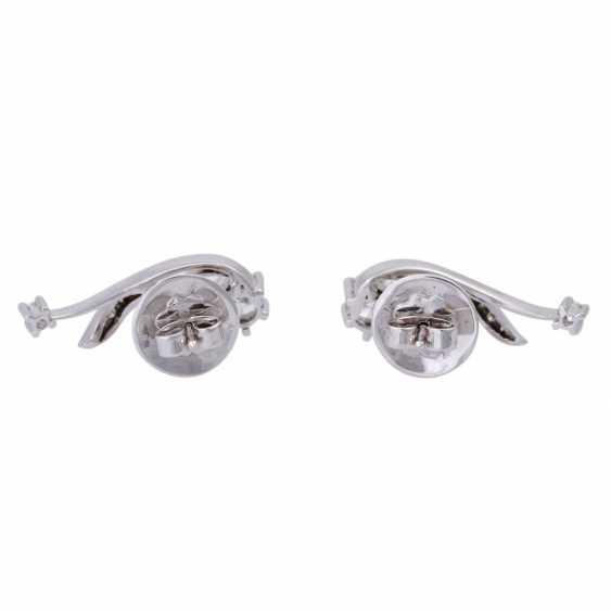 Stud earrings with brilliant-cut diamonds, together CA. 1 ct, FW (F-G)/VS-VVS, - photo 4