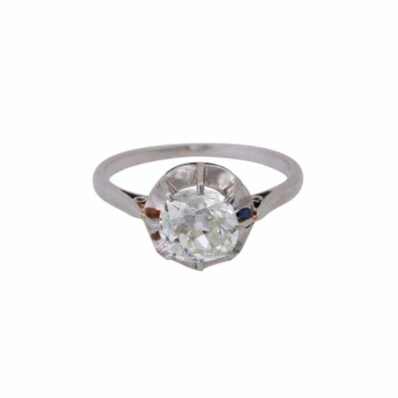 Solitaire ring with old European cut diamond of approximately 1 ct, - photo 1