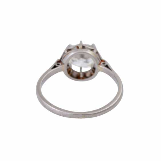 Solitaire ring with old European cut diamond of approximately 1 ct, - photo 4