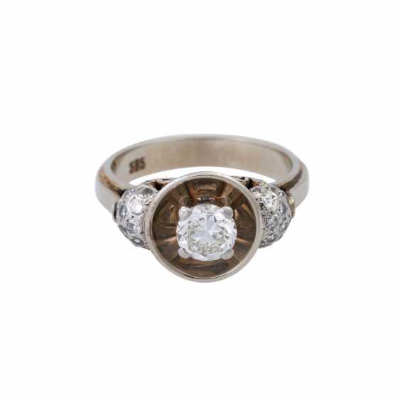 Кольцо с altschliff алмаз, около 0,55 ct, - фото 1