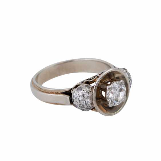 Кольцо с altschliff алмаз, около 0,55 ct, - фото 2