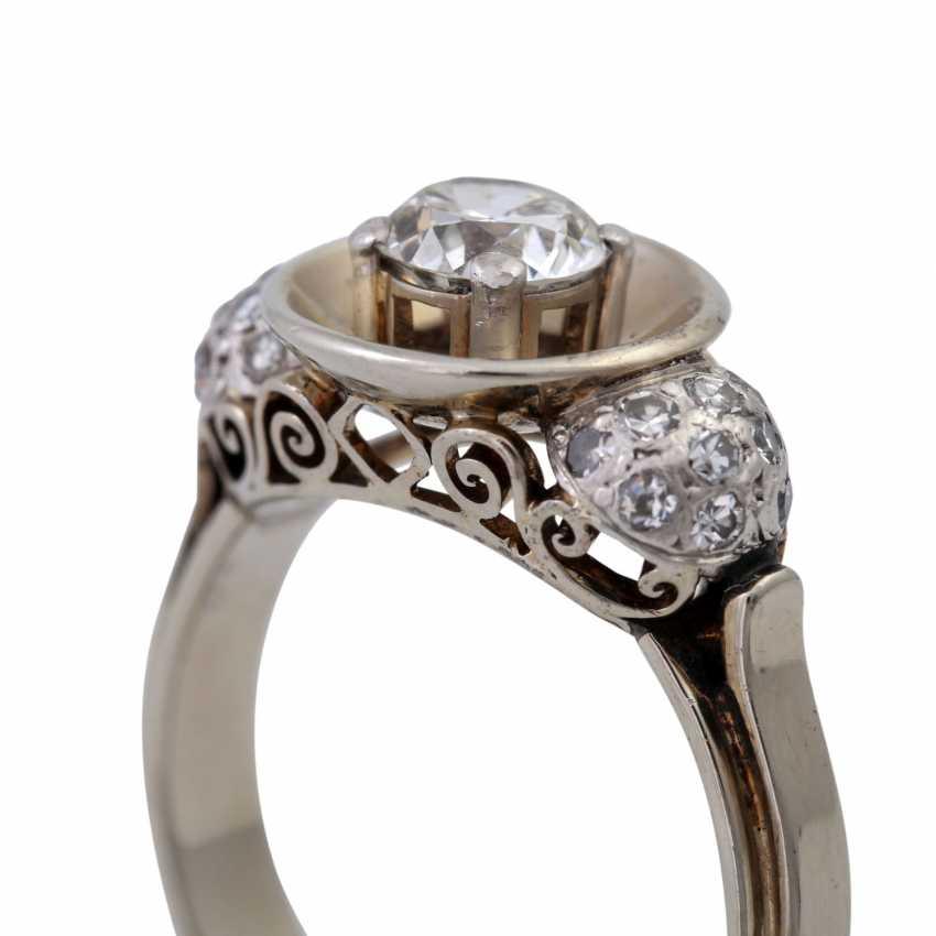 Кольцо с altschliff алмаз, около 0,55 ct, - фото 5