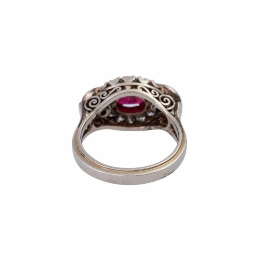 Ring mit ovalem Rubincabochon, ca. 0,5 ct - photo 4