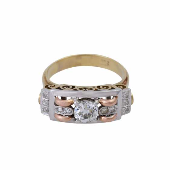 Ring with old European cut diamond, approx 0.5 ct, - photo 1