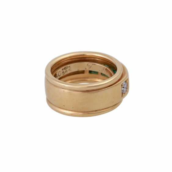Ring with 4 Smaragdcarrés zusammen ca. 1,2 ct, - photo 3
