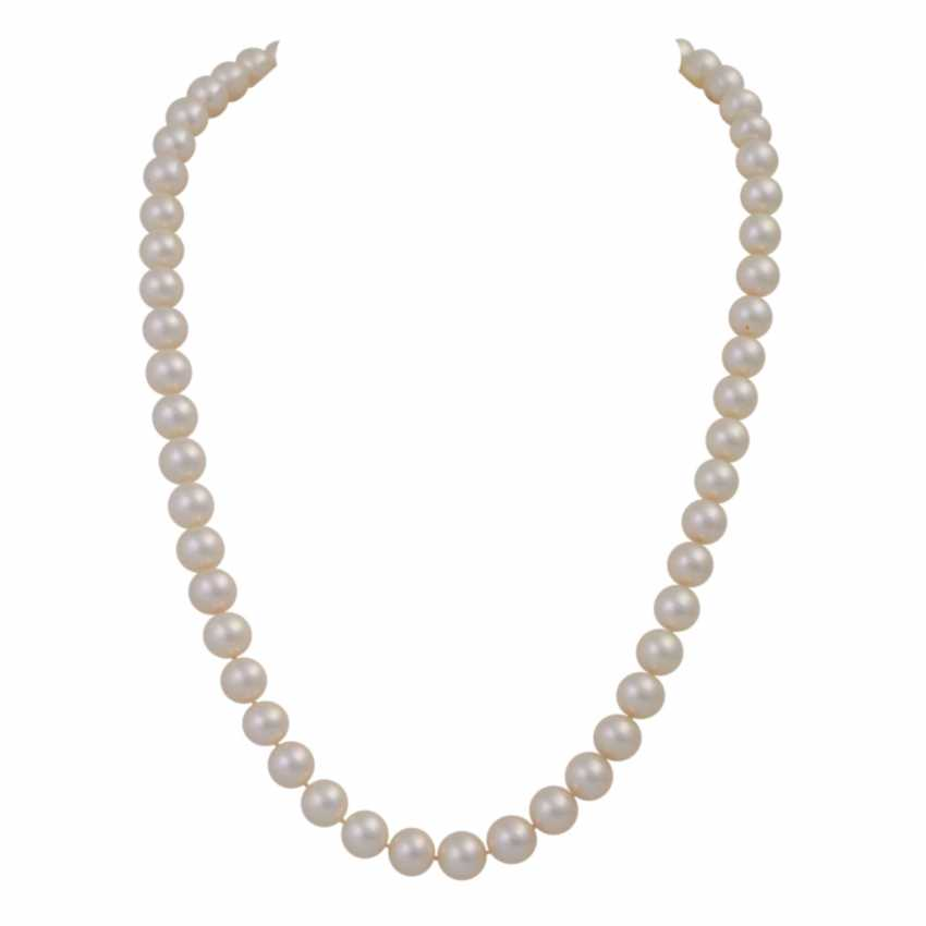 Fine Akoya Pearl Necklace, - photo 1