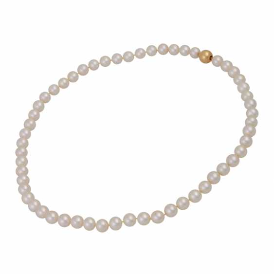Fine Akoya Pearl Necklace, - photo 3