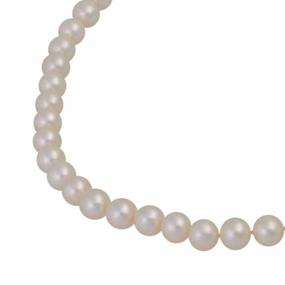 Fine Akoya Pearl Necklace, - photo 4