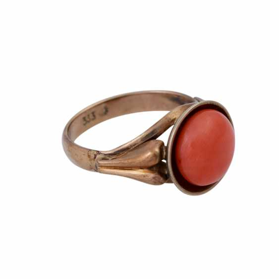 Ring with fine Mediterranean coral, - photo 2