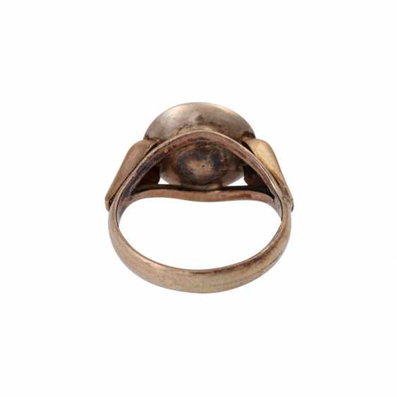 Ring with fine Mediterranean coral, - photo 4
