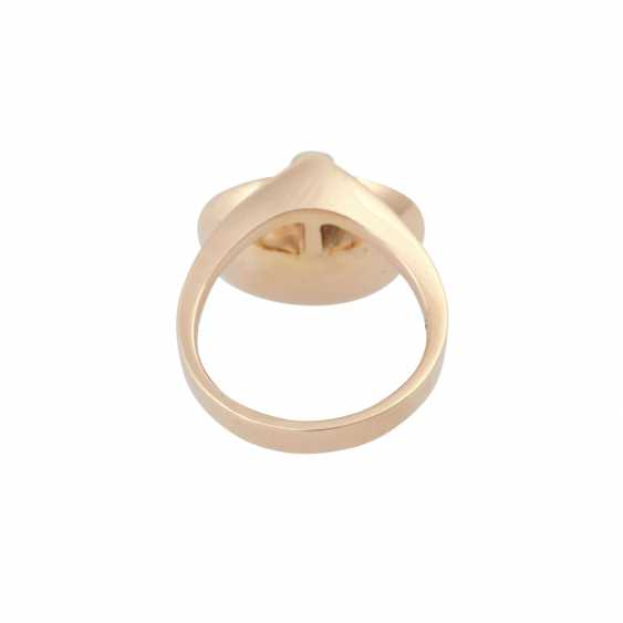 Ring with opal doublette and brilliant - photo 4