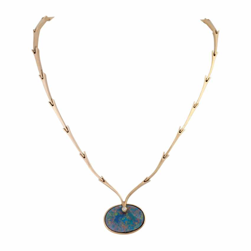 Necklace with opal doublette and brilliant - photo 1