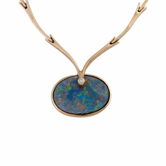 Necklace with opal doublette and brilliant - photo 2