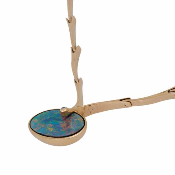 Necklace with opal doublette and brilliant - photo 4