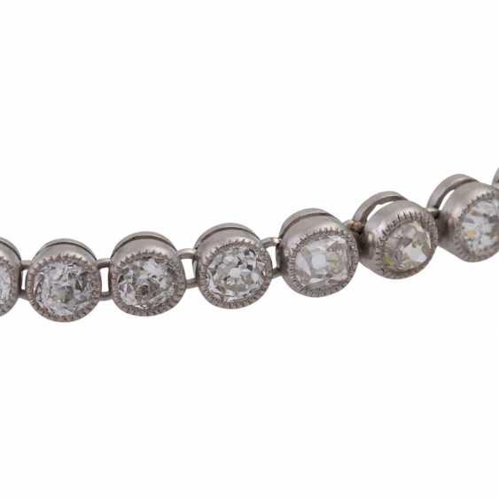 Rivièrearmband mit Altschliffdiamanten zusammen ac 4,2 ct, - photo 5