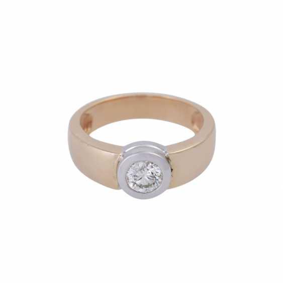 Ring mit Brillant ca. 0,5 ct, - photo 1