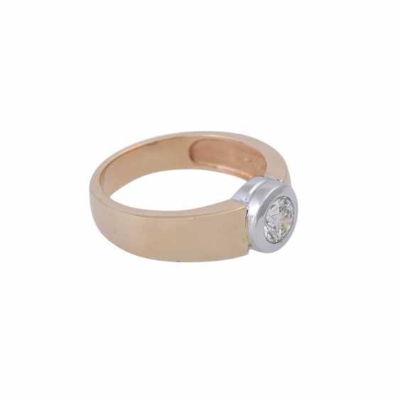 Ring mit Brillant ca. 0,5 ct, - photo 2