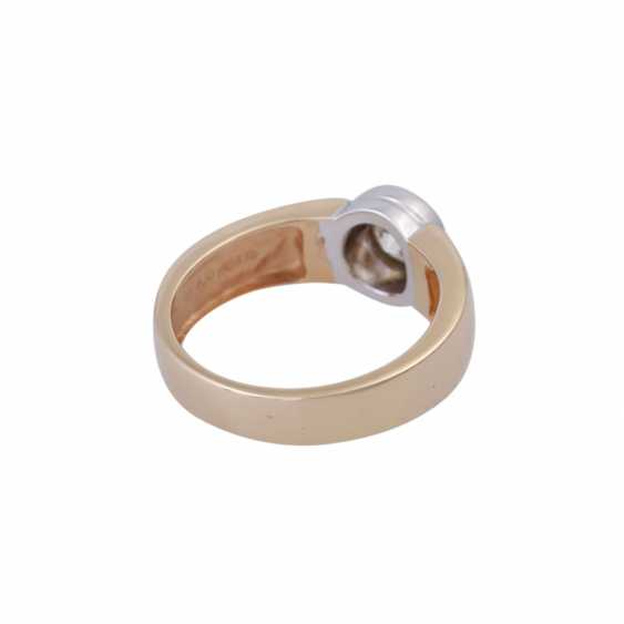 Ring mit Brillant ca. 0,5 ct, - photo 3