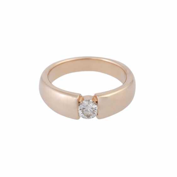 Ring mit Brillant ca. 0,4 ct, - photo 1