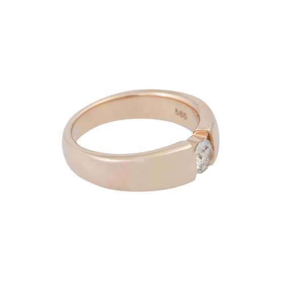Ring mit Brillant ca. 0,4 ct, - photo 2