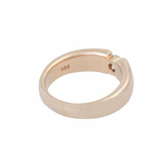 Ring mit Brillant ca. 0,4 ct, - photo 3