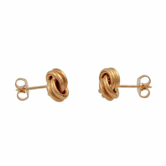 TIFFANY & CO stud earrings in a classic knot shape, - photo 2