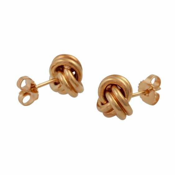 TIFFANY & CO stud earrings in a classic knot shape, - photo 3