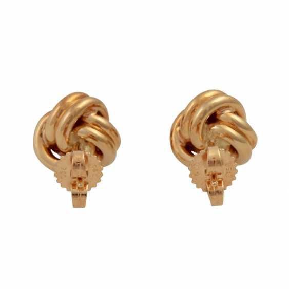 TIFFANY & CO stud earrings in a classic knot shape, - photo 4