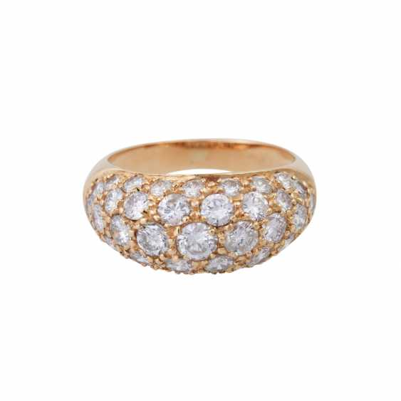 Ring set with numerous brilliant-cut diamonds, together approx. of 1.4 ct, - photo 1
