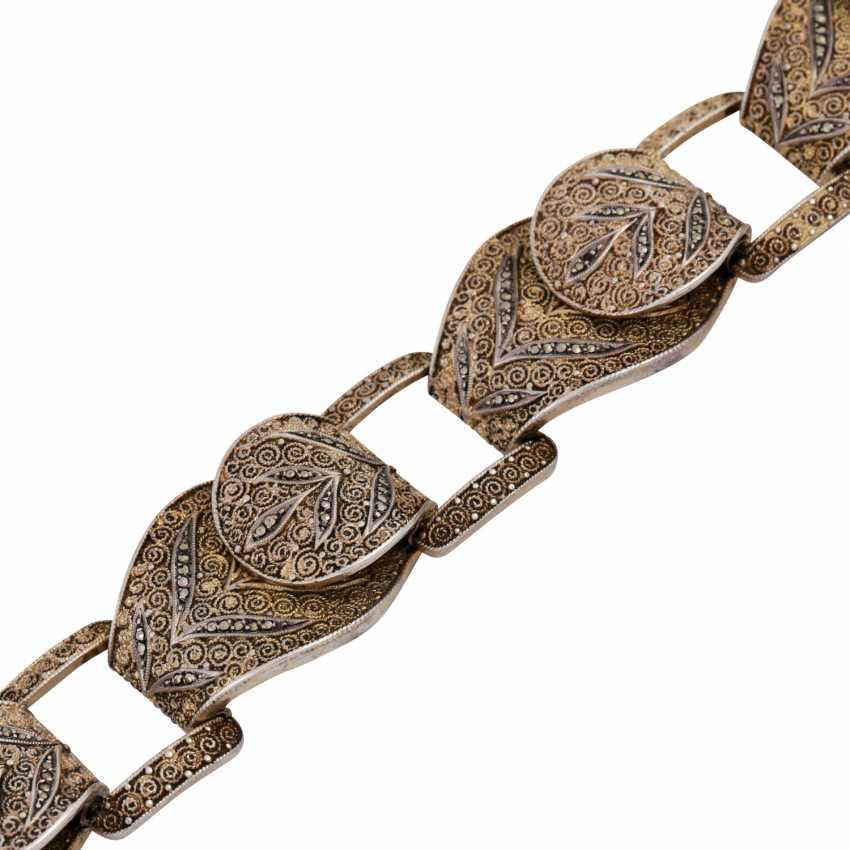 THEODOR FAHRNER bracelet with marcasite trim, - photo 4