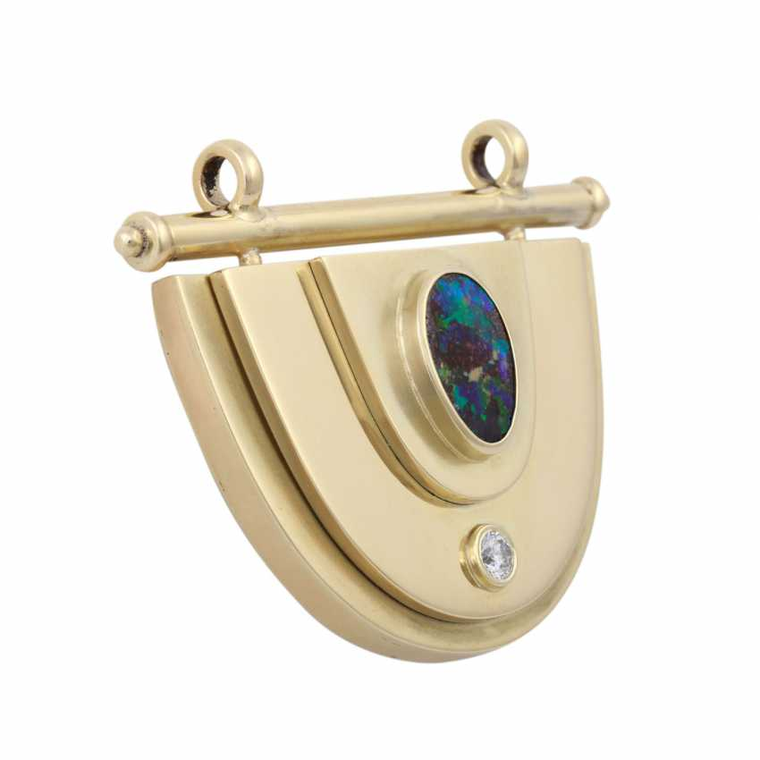 Modern pendant with boulder opal and brilliant - photo 2