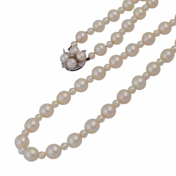 Long necklace made of Akoya pearls, - photo 4