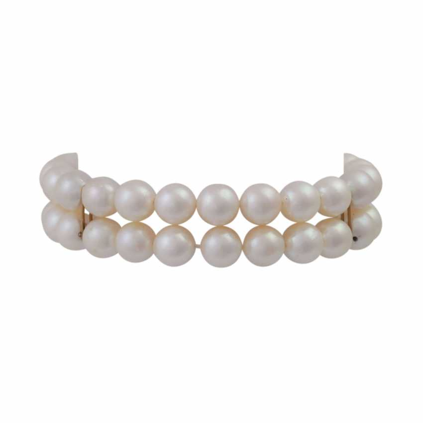 Bracelet of Akoya pearls, 2 rows, - photo 1