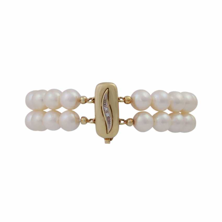 Bracelet of Akoya pearls, 2 rows, - photo 2