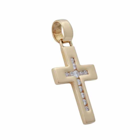 Pendentif croix avec Brillants, - photo 2