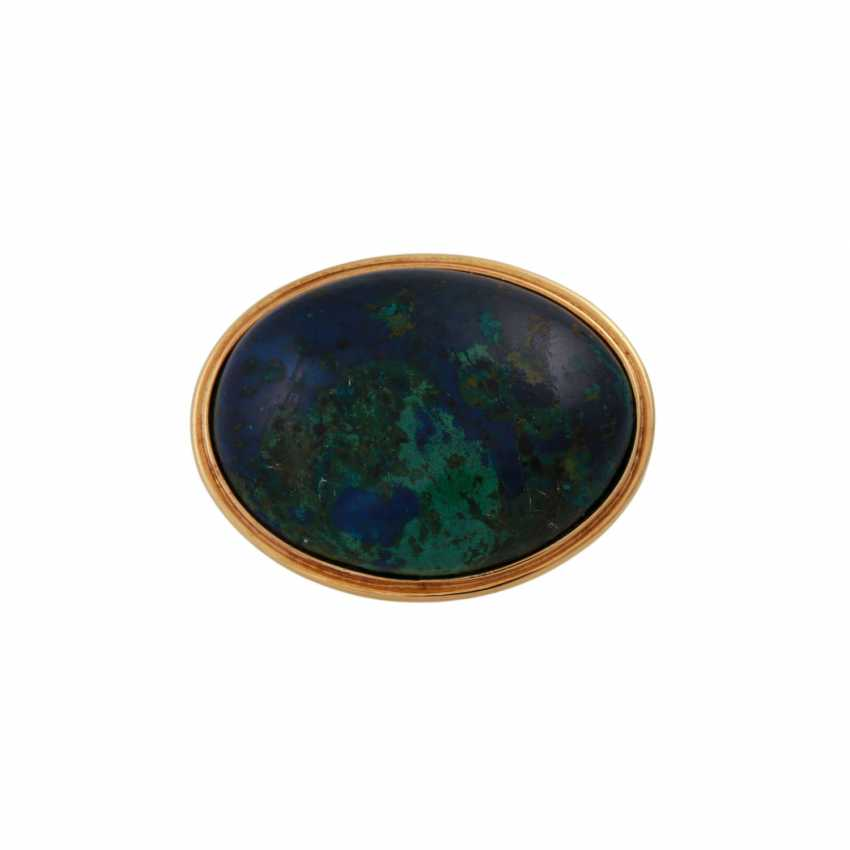 Set brooch and necklace made of azurite, - photo 4