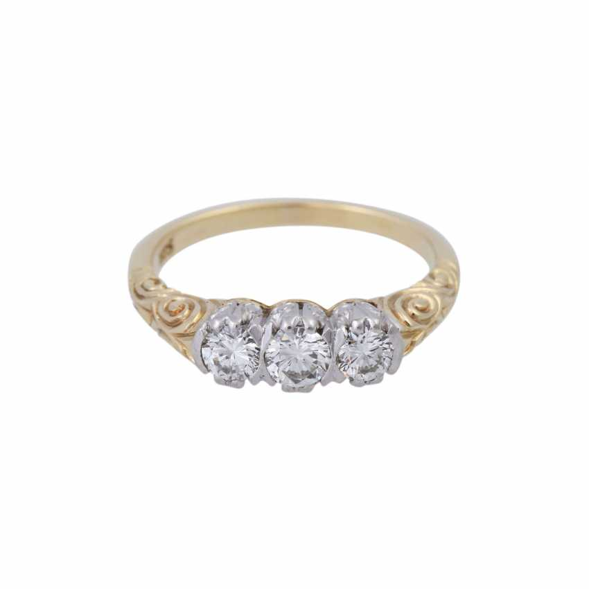 Ring with brilliant-cut diamonds, together approx 0.5 ct, - photo 1